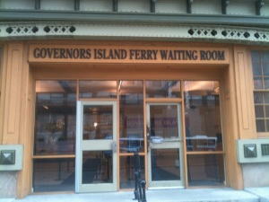 Entrance to the Governor's Island Ferry. Students take a boat to high school!
